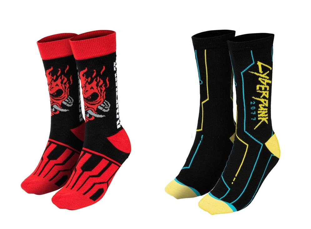 Vybavení pro fanoušky Cyberpunk 2077 ponozky