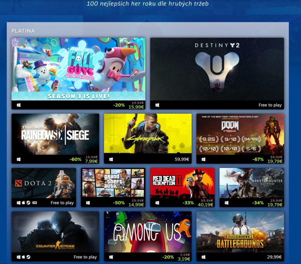 Steam odhalil nejprodávanější hry roku 2020 steam2020
