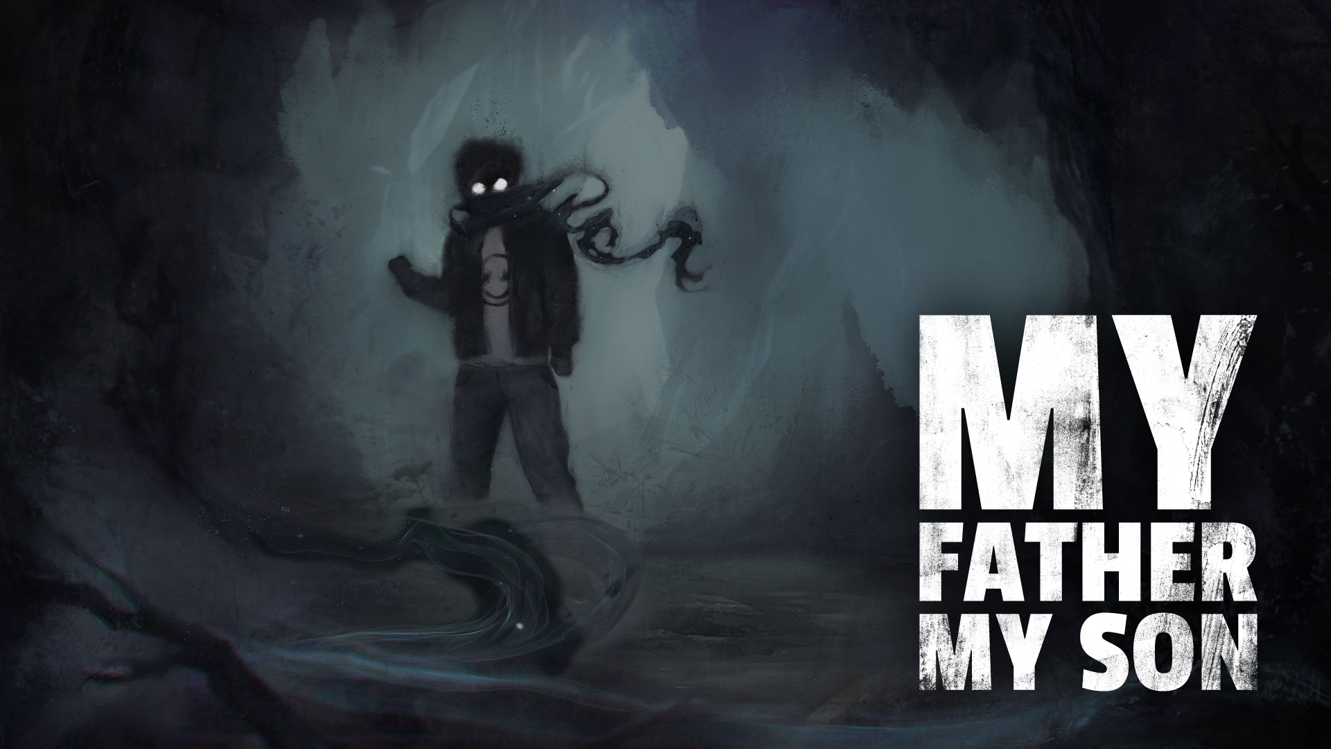 Otec a syn ztroskotají na opuštěném ostrově v My Father My Son 2 Dark Character with logo