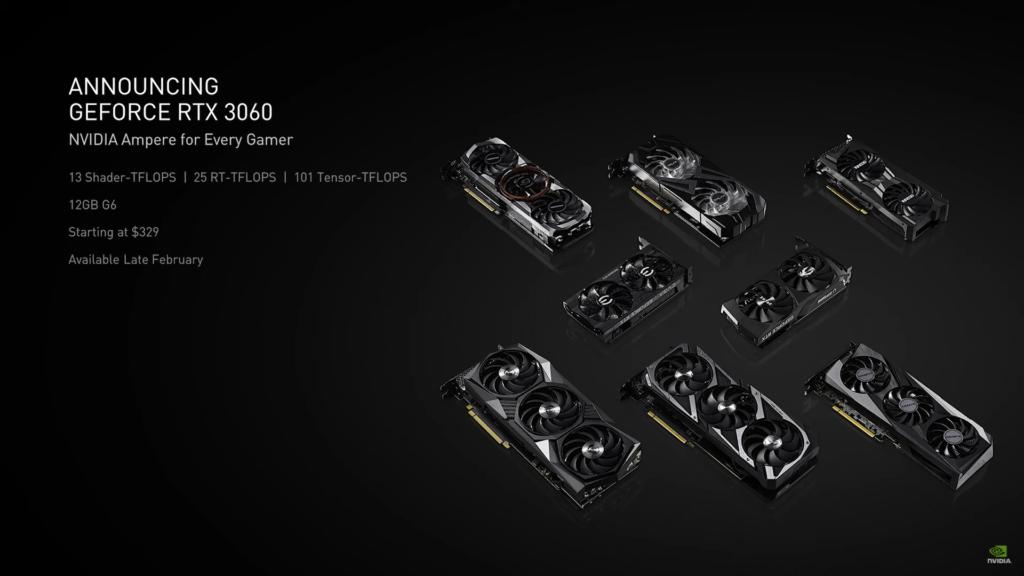 Nvidia sníží efektivitu těžení kryptoměn na RTX 3060 3060specs