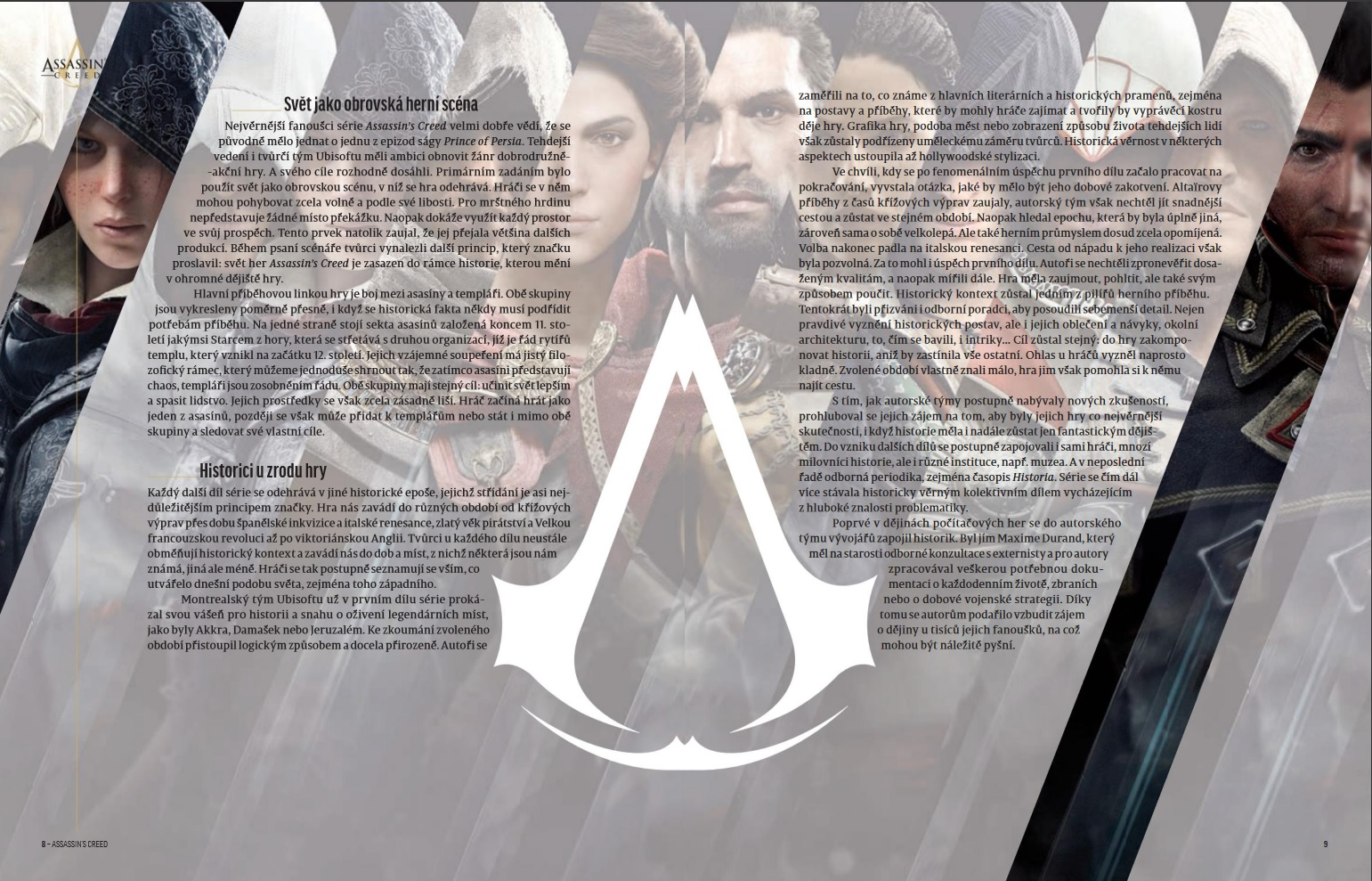 Recenze knihy Assassin's Creed – 2 500 let historie AC 1