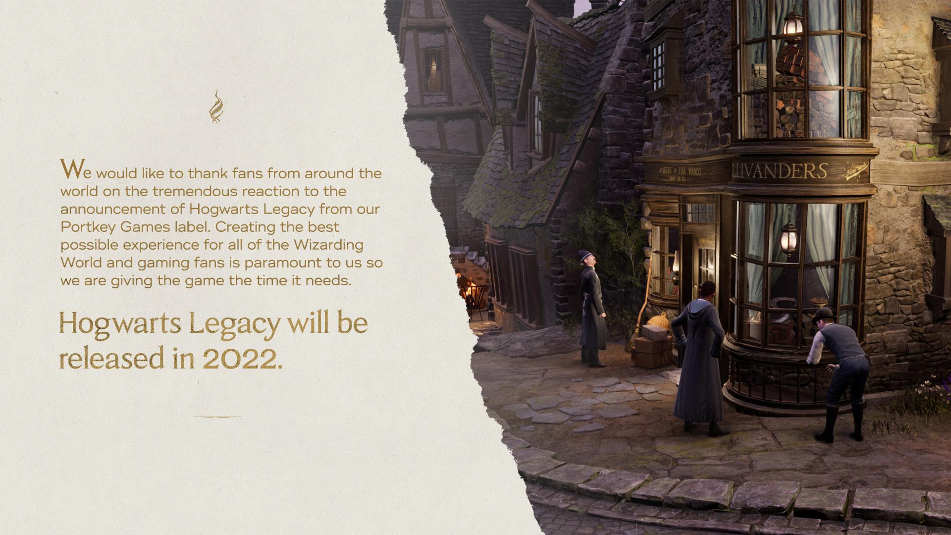 Vydání Hogwarts Legacy odloženo hogwartslegacy