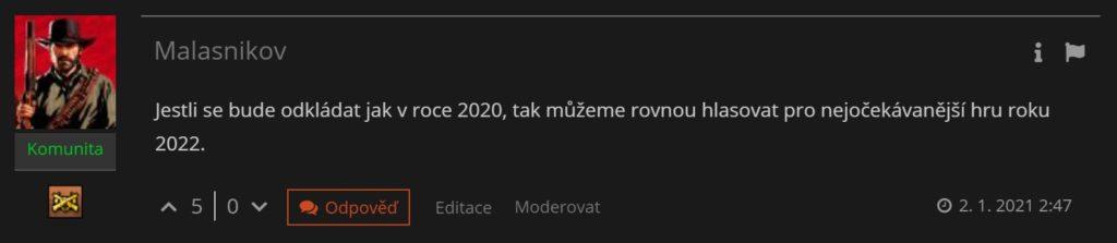 Výsledky hlasování čtenářů o nejočekávanější hře roku 2021 komentar2021