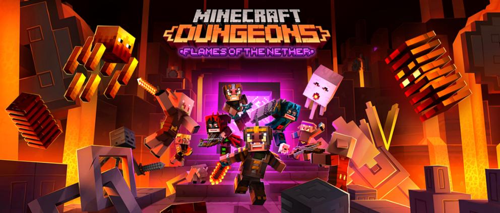 V únoru se můžeme těšit na další obsah do Minecraft Dungeons Flames