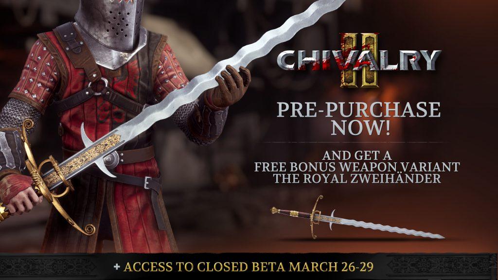 Chivalry 2 má přesné datum vydání Pre order