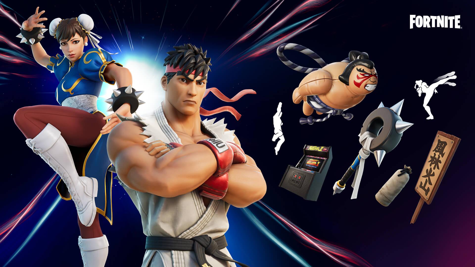 Fortnite obohatily postavy ze Street Fightera Zbytek