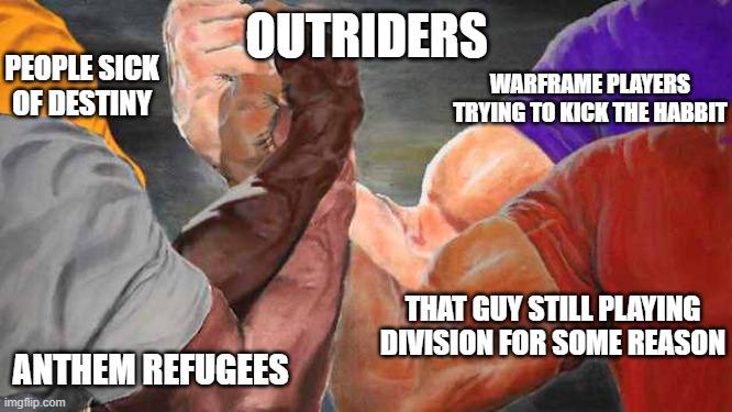 Galerie a stručné dojmy z dema Outriders outriders meme