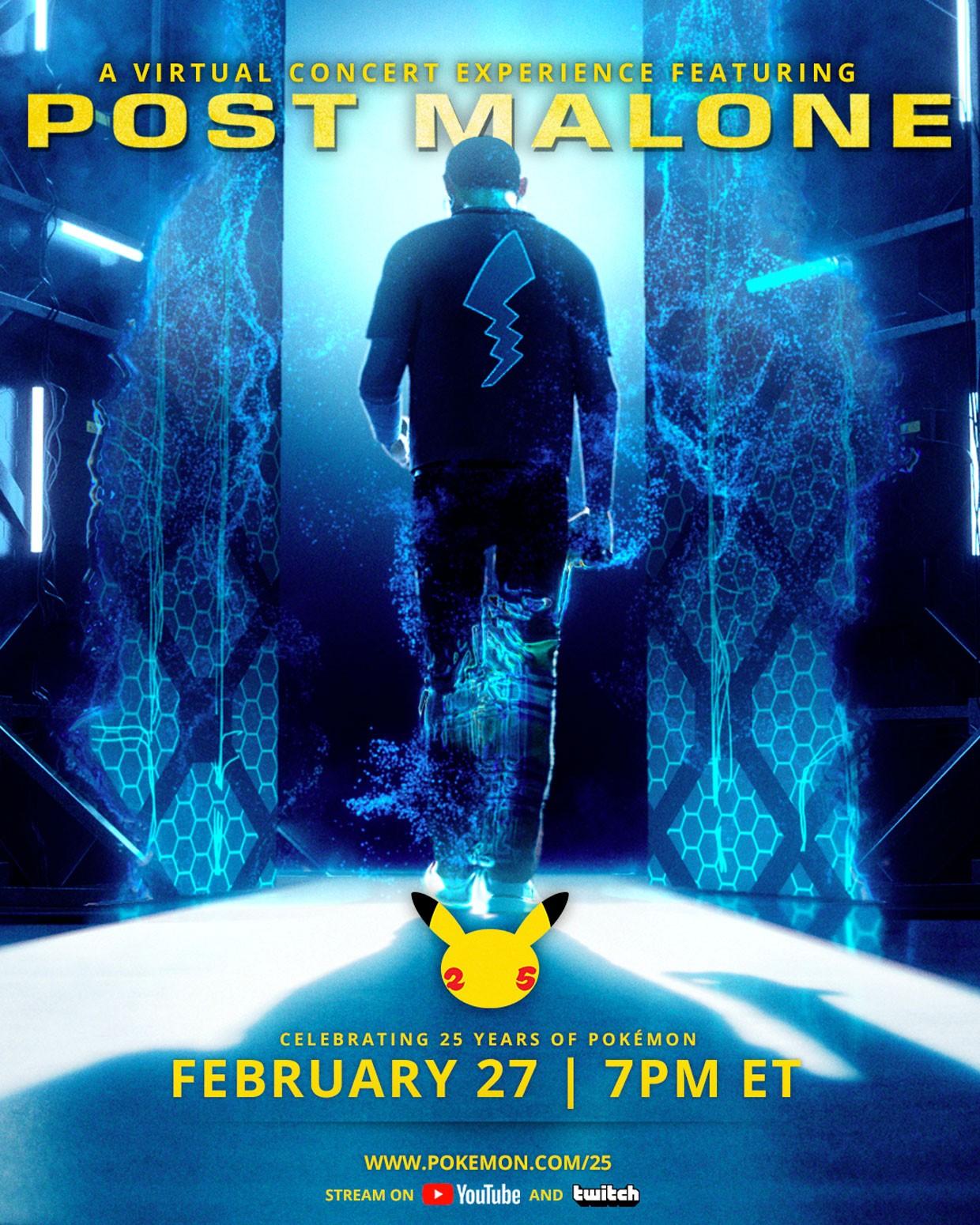 Chystá se virtuální Pokémon koncert s rapperem Post Malone pokemonpostmalone