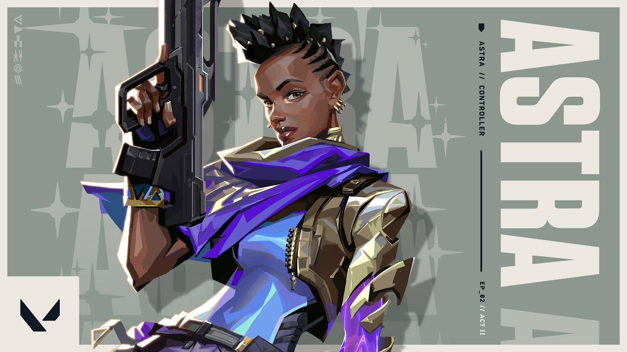 Astra je novou postavou do hry Valorant Astra 2