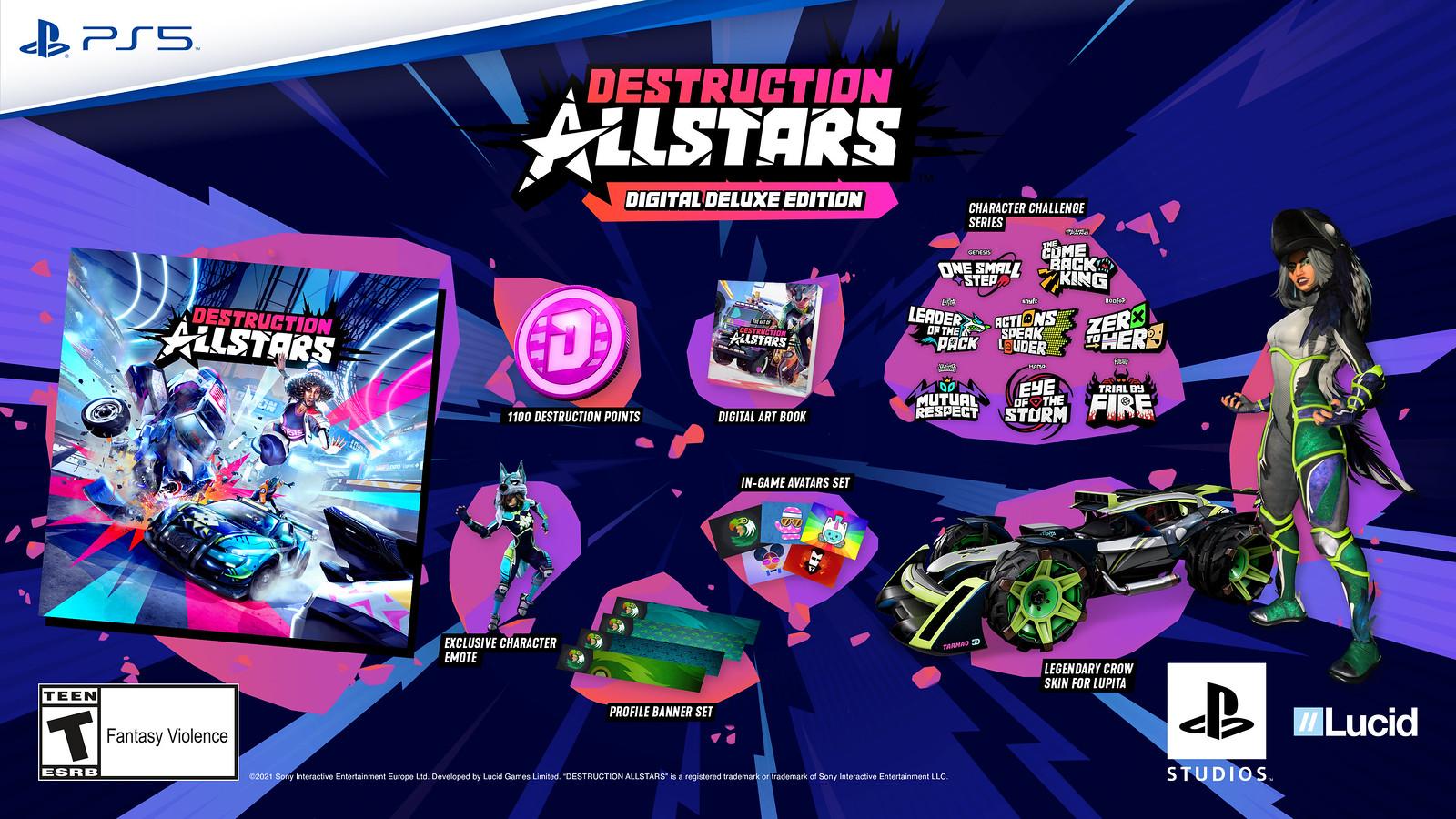 Destruction AllStars dostane battle pass a hodnocené zápasy Edice