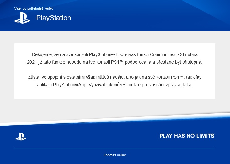 Komunity na PlayStationu 4 zavírají krám Komunity