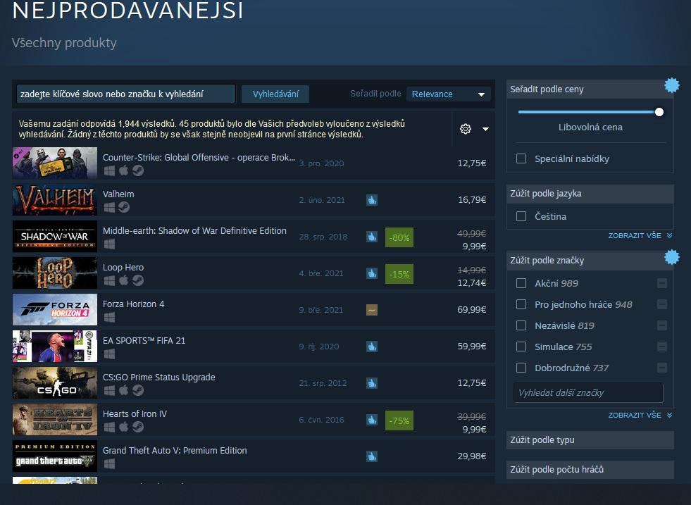 Forza Horizon 4 na Steamu odstartovala dobře Nejpro