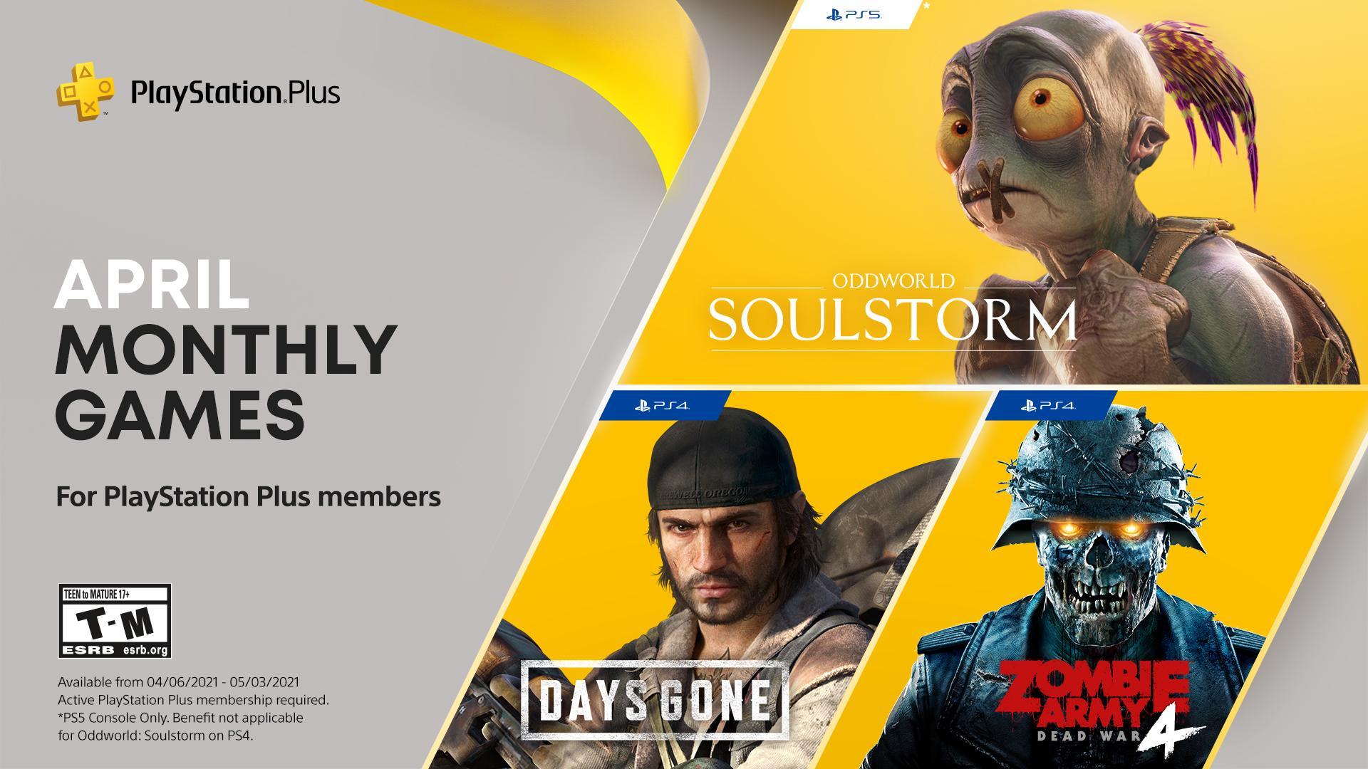 Dubnové hry s PlayStation Plus PS PLus