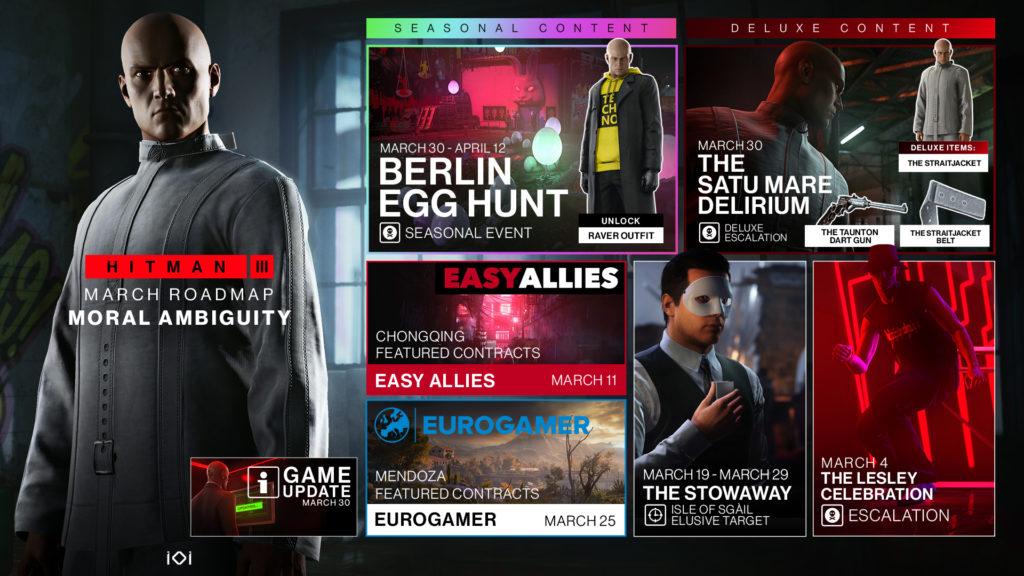 Hitman 3 představuje březnovou porci obsahu Roadmap