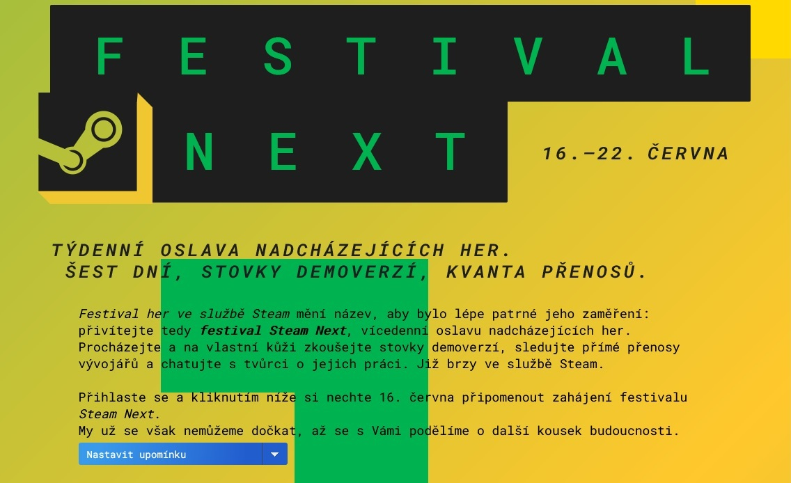 Steam chystá další festival Steam Fest 1
