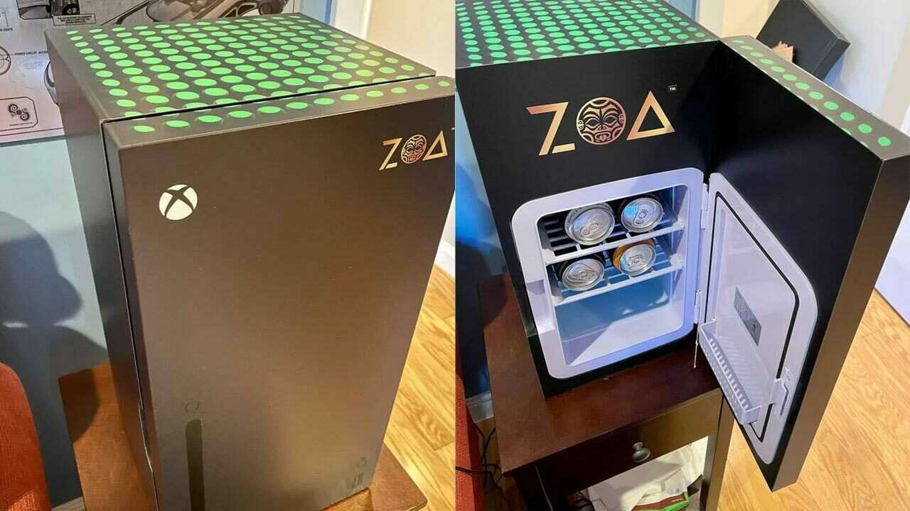 Lednice po vzoru Xbox Series X má menšího sourozence