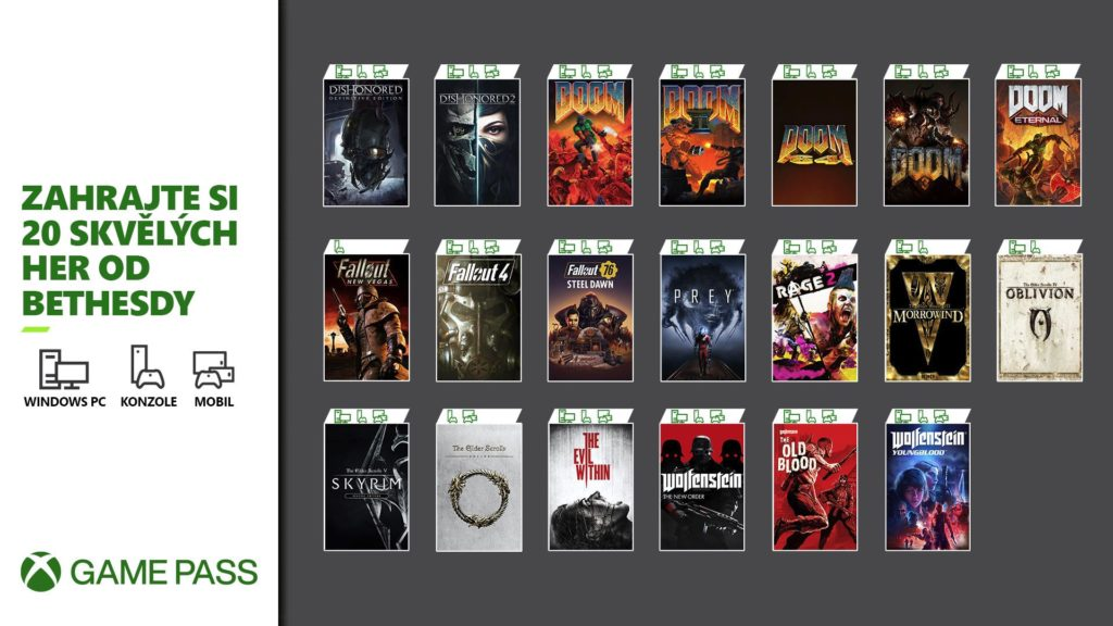 Xbox Game Pass získal 20 her od Bethesdy xgp20b