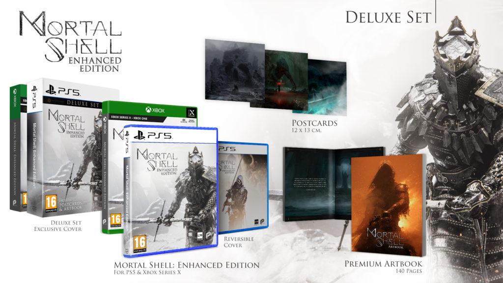 Srovnávací test Mortal Shell: Enhanced Edition Beautyshot MSEnhaced Deluxe PS5 Xbox PEGI 1