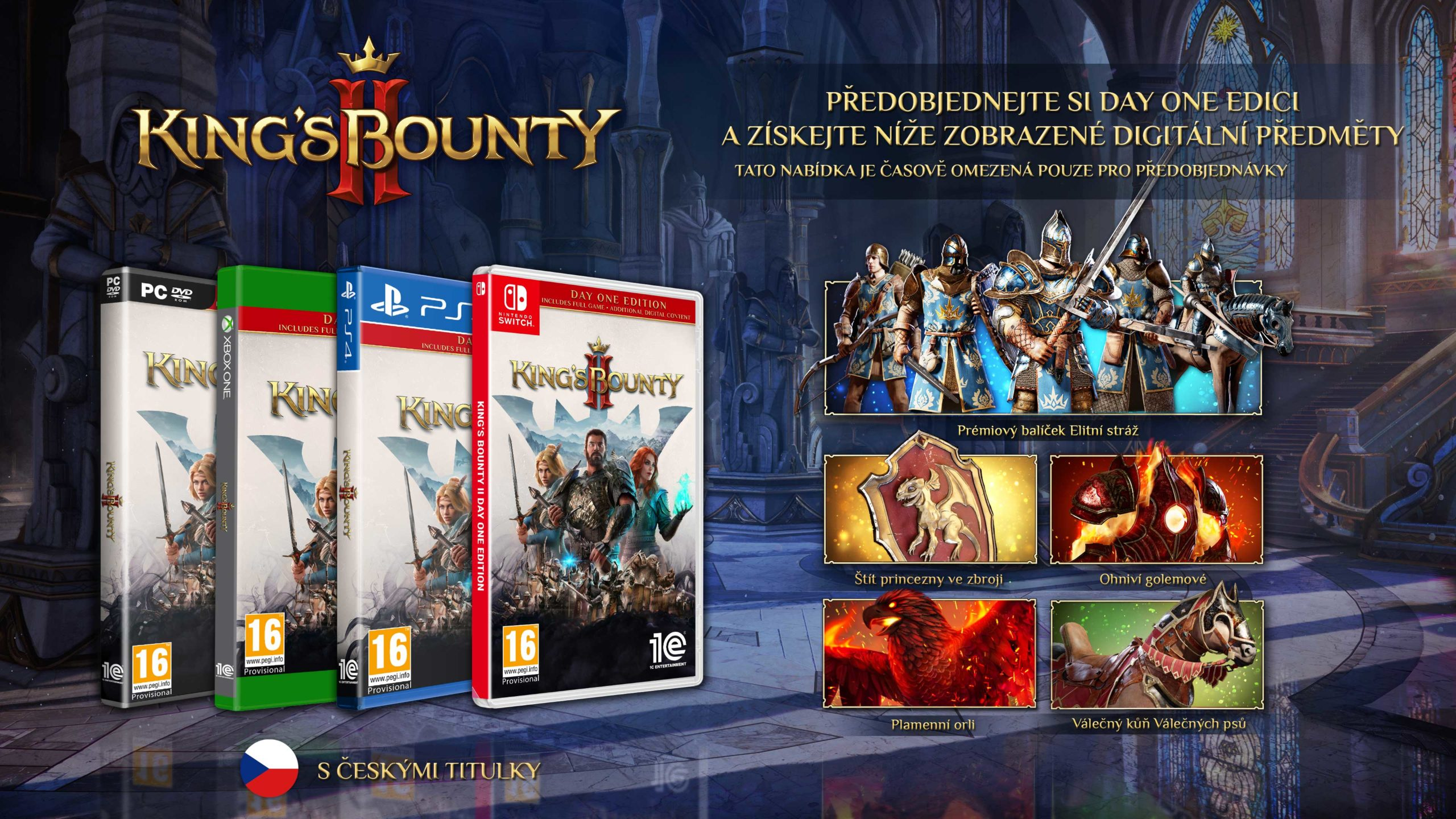 King's Bounty II v češtině Day One Beautyshot CZ scaled