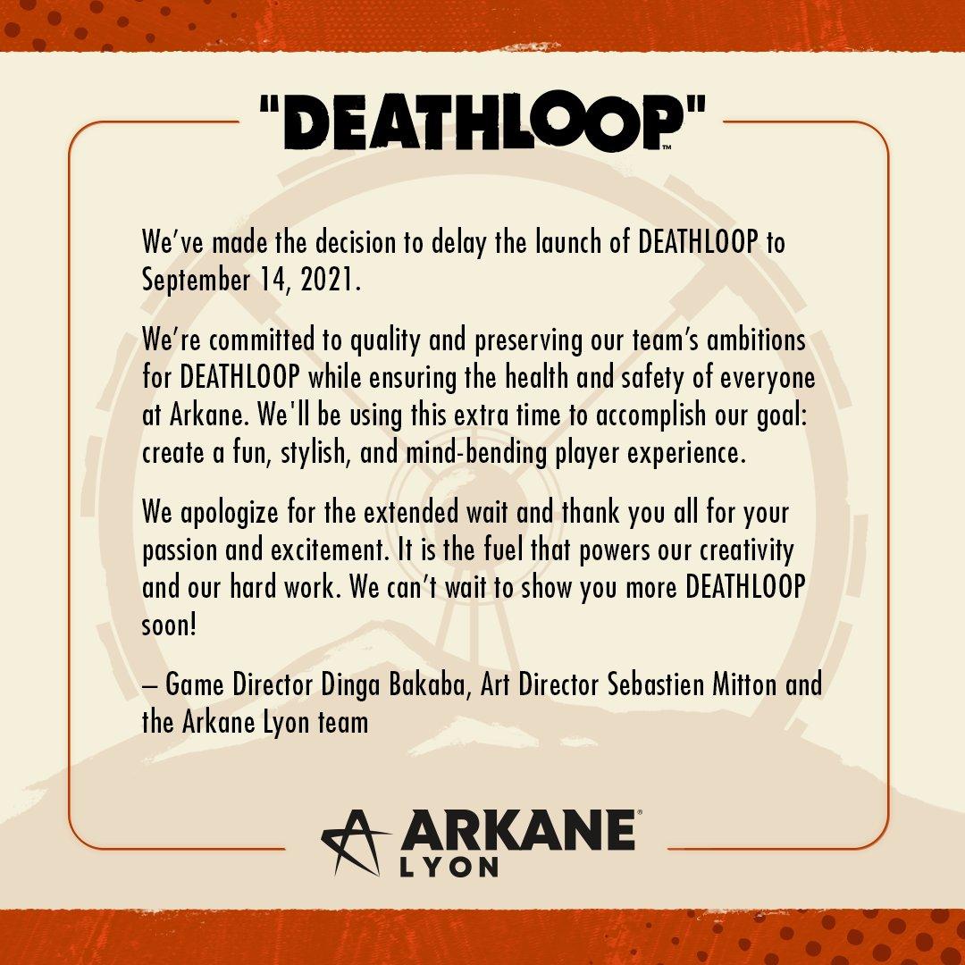 Deathloop odložen Deathloop