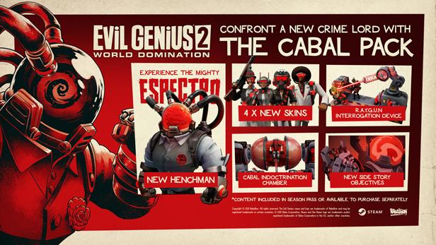 Do Evil Genius 2 vyšlo první DLC