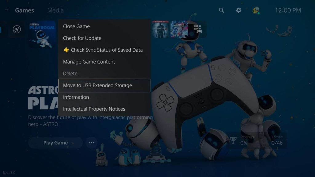 PS5 firmware obohacuje funkce konzole Eng Move to USB Extended Storage