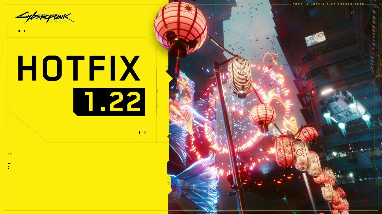 Vyšel hotfix 1.22 pro Cyberpunk 2077 HF