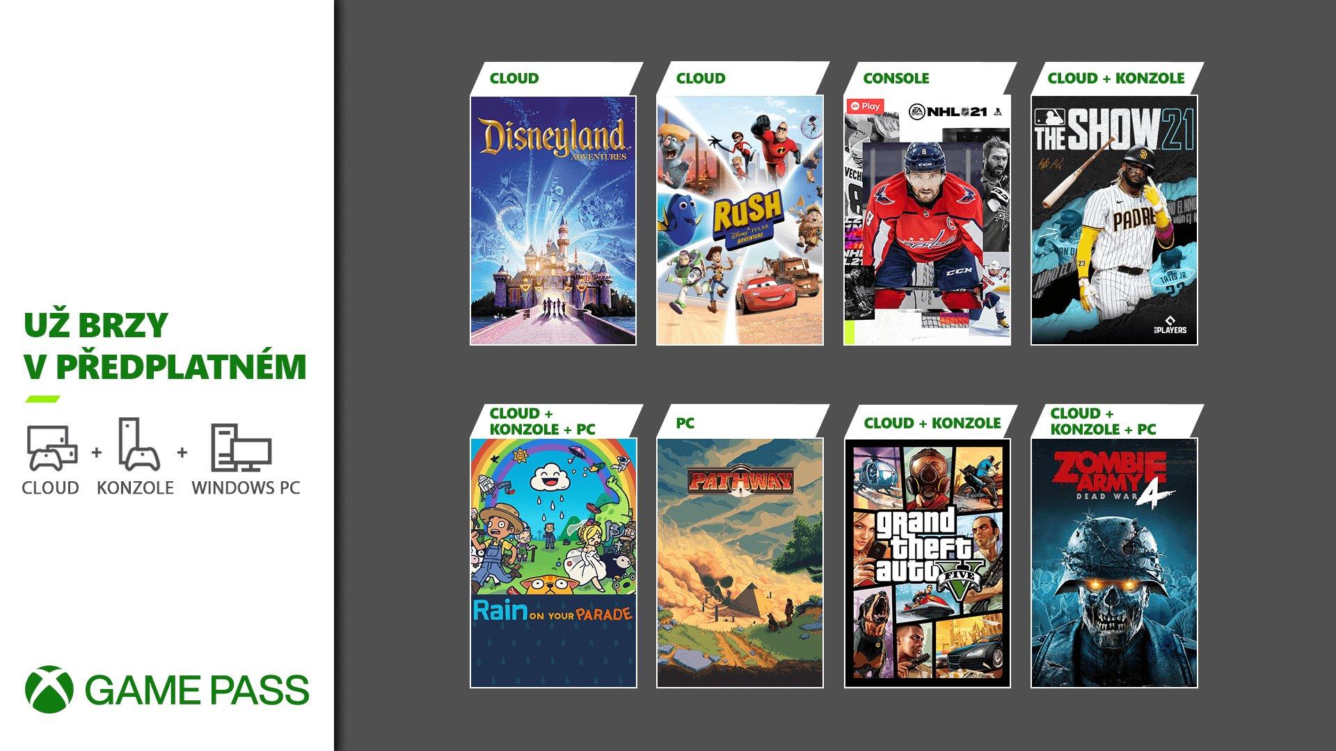 GTA V se vrací do Xbox Game Pass game passcz