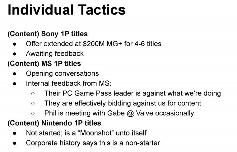 Epic chtěl získat exkluzivity od PlayStationu, Xboxu a Nintenda Epic first party