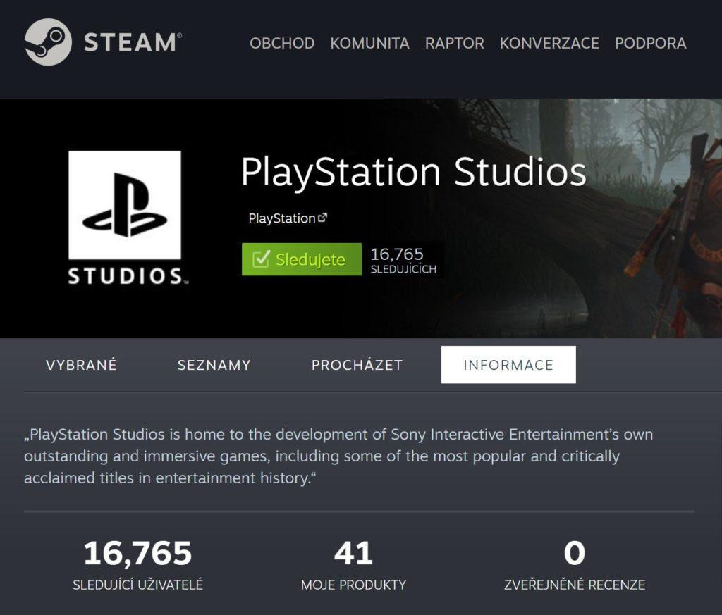 PlayStation má oficiální Steam stránku s utajenými tituly pss