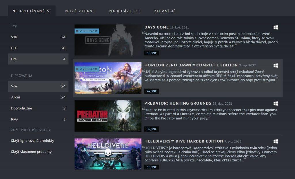 PlayStation má oficiální Steam stránku s utajenými tituly seznampss
