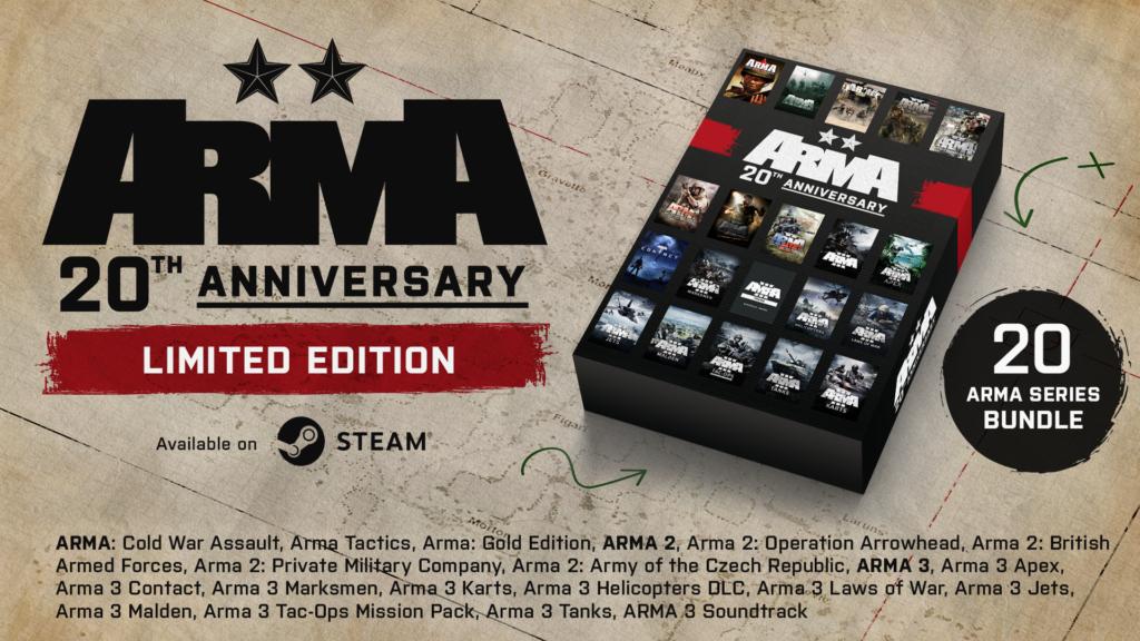 Arma slaví 20 let, první díl dočasně zdarma Arma Anniversary Bundle