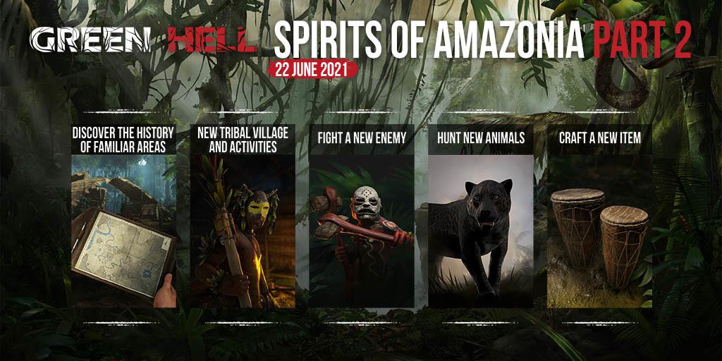 Druhá část Green Hell - Spirits of Amazonia vyjde dnes Info