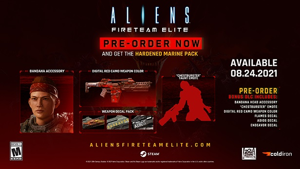Aliens: Fireteam Elite - nová ukázka a přesné datum vydání PREORDER Upsell Steam Small