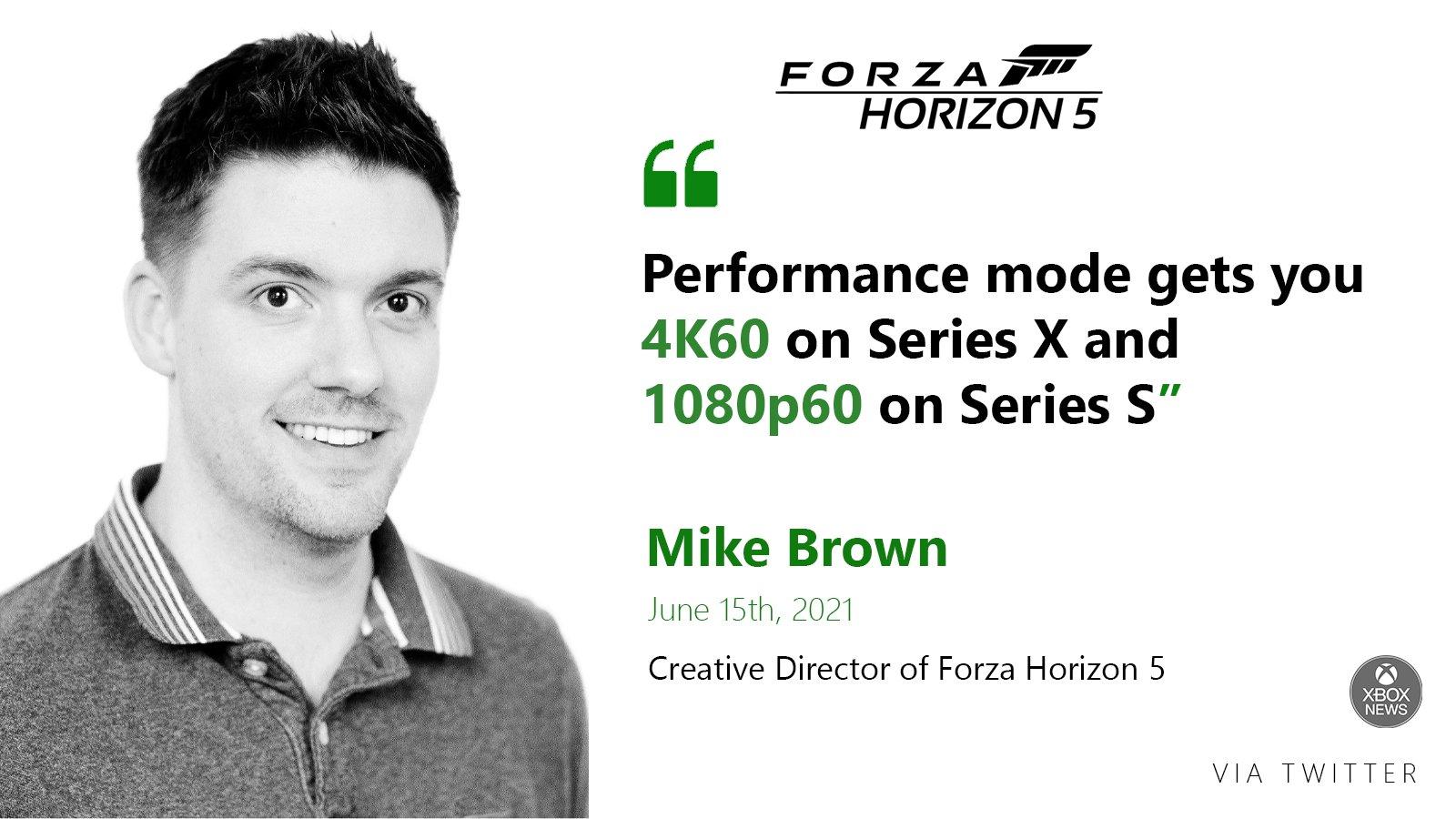 Forza Horizon 5 cílí na 4K při 60 FPS u Xbox Series X forza5