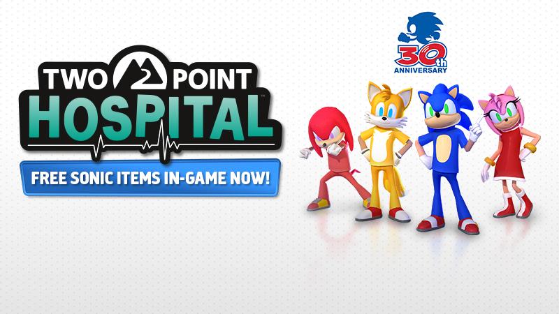 Sonic onemocněl a odvezli ho do Two Point Hospital Sonic bonusy