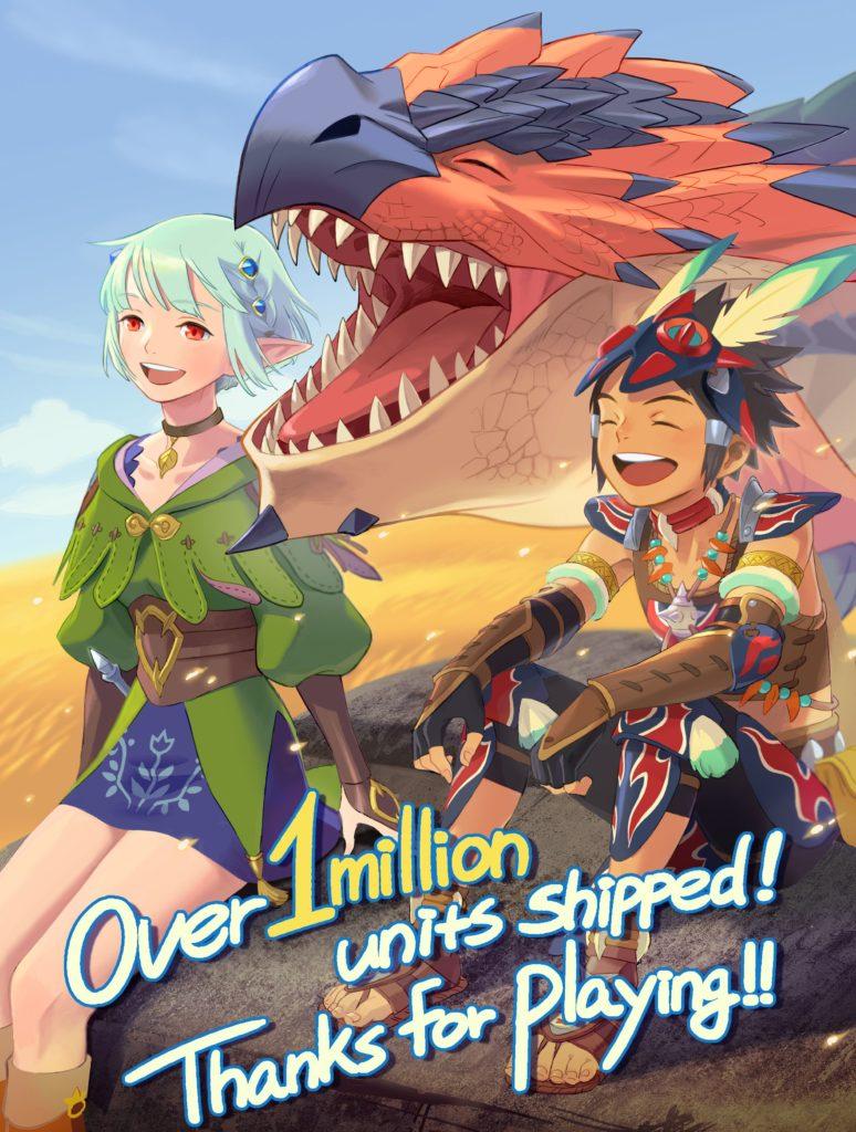 Monster Hunter Stories 2 hlásí prodejní úspěch mhs2mil
