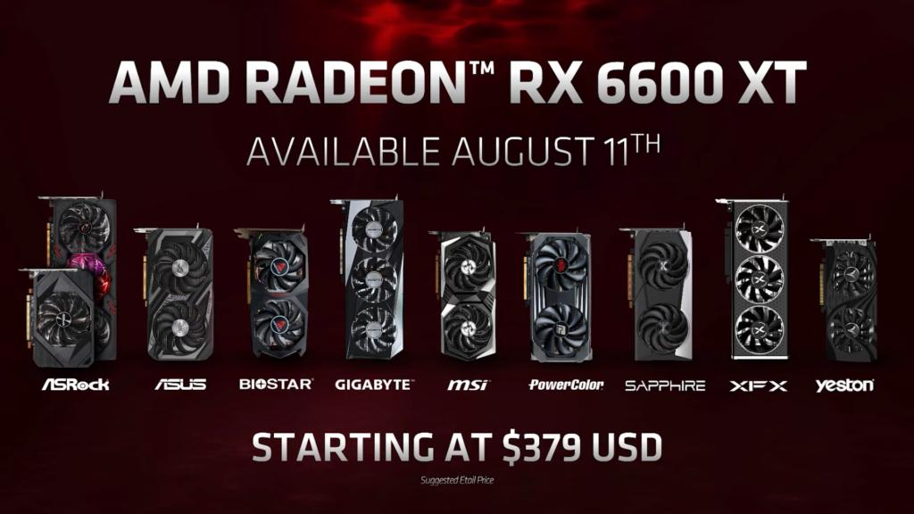 AMD oznámilo Radeon RX 6600 XT msrp