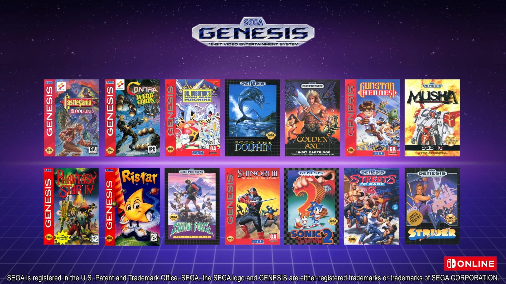 Předplatné Nintendo Switch Online dostane rozšířenou verzi Genesis