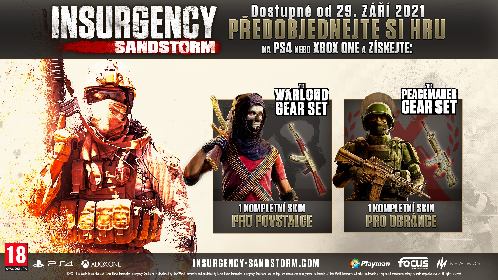Nový trailer na konzolovou verzi Insurgency: Sandstorm ISSPreOrderBeautyShot2021CZPEGI approved
