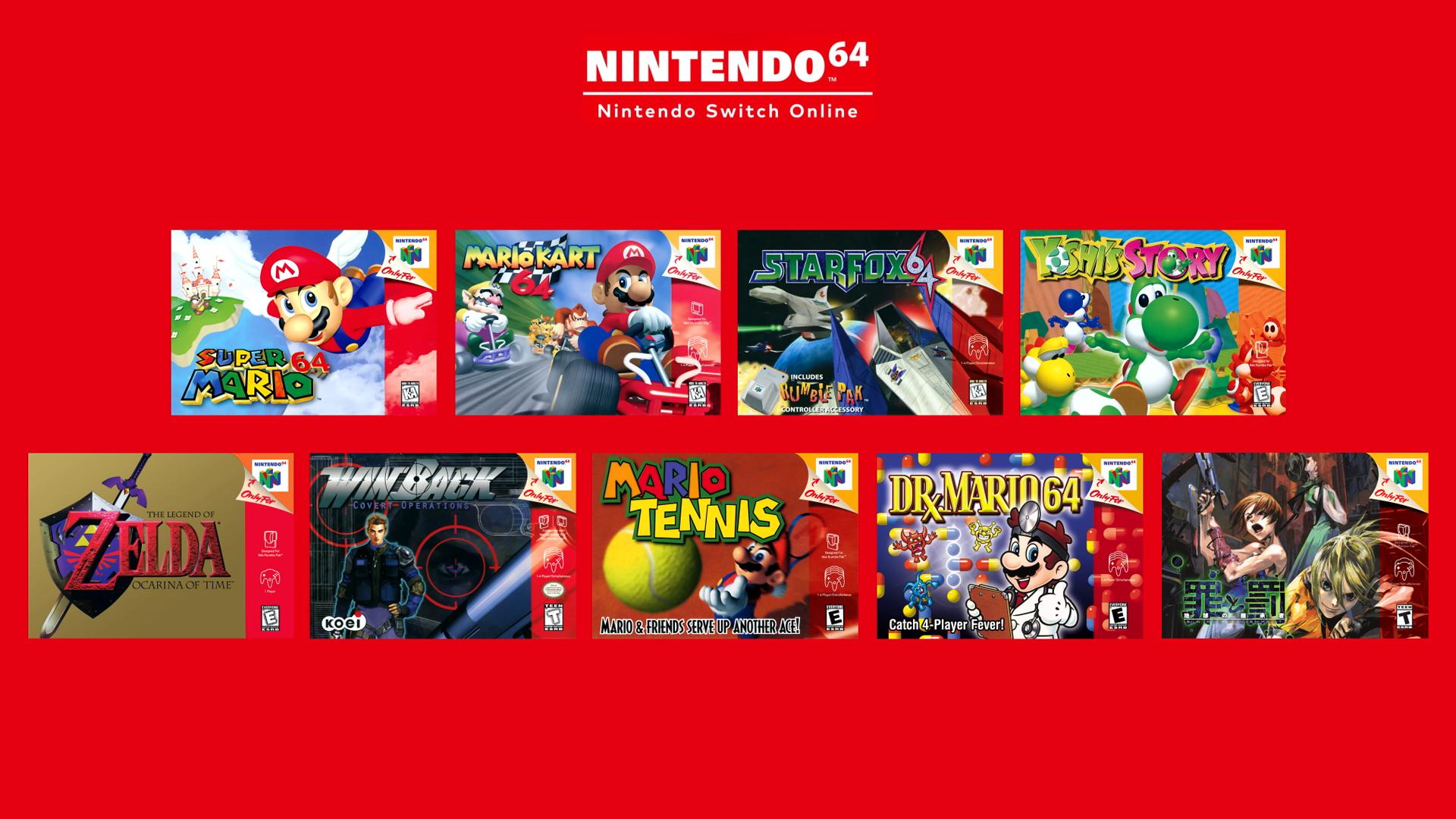 Předplatné Nintendo Switch Online dostane rozšířenou verzi Nintendo 64